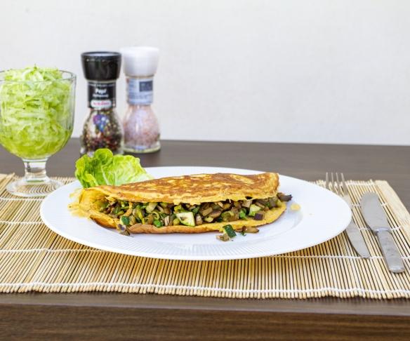 Jak připravit houbovou omeletu