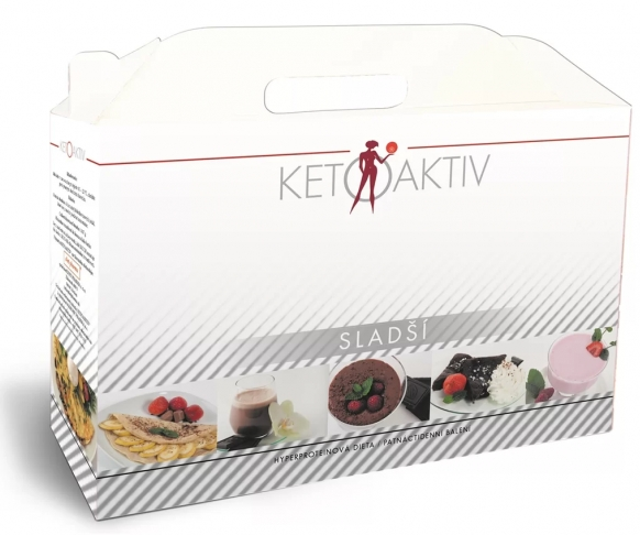KETOAKTIV® Sladší, box na 15 dnů, 45 jídel + 3 jídla a šejkr zdarma